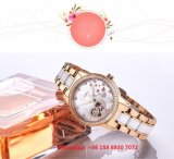 스테인리스 결박 Fs604를 가진 적절한 상한 자동적인 여자의 시계
