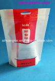 El sello lateral cuatro se levanta el bolso plástico Ziplock del alimento