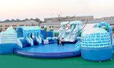 0.9mm PVC 방수포 거대한 팽창식 물 미끄럼 (HL-006)