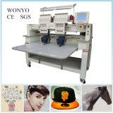 El bordado principal del casquillo 2 trabaja a máquina la máquina del bordado del sombrero