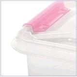 Hot Sale Caixa de armazenamento de plástico colorido Caixa de presente pequena transparente Container com alças