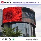 Schermo fisso esterno pieno di colore P8/P10/P16 LED per la video visualizzazione di parete