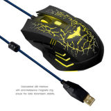 El USB pulsa la fuente del ratón del ordenador del juego