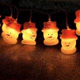 Geformtes LED dekoratives Licht des PlastikSchneemann-(26-1P1619)