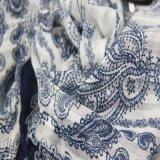 De blauwe Sjaal van de Polyester voor Sjaals van de Vrije tijd van de Manier van Vrouwen de Bijkomende