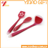 Ложка силикона изготовленный на заказ Kitchenware легкая чистая цветастая (YB-HR-23)