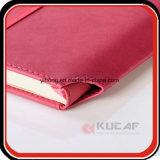 Insertar el cuaderno de costura de la PU de la espina dorsal de la pluma