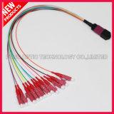 Fibre Optique MPO à LC Hybrid Fanout Cable