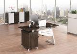 사무실을%s 현대 멜라민 직원 테이블 금속 베니어 매니저 테이블
