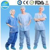 Heiß! Nichtgewebte Wegwerfkrankenhaus-Uniform, Krankenhaus-Kleidungs-Patienten-Kleid