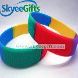 Unterschiedliche Farbe und Costomized Firmenzeichen personifizierte Silikon-Armbänder