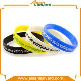 Ha annunciato il Wristband del silicone di marchio di stampa