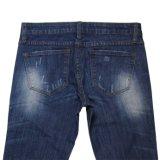 De Jeans van de Was van het Af:drukken van de Dame van uitstekende kwaliteit (mijn-004)