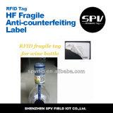 Anti-Falsificación de la etiqueta de papel frágil del extranjero H3 ISO18000-6c RFID de la frecuencia ultraelevada