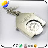 Hochwertige spezielle Form-Münzen-Metallzink-Legierungs-Schlüsselkette mit Perlen-Überzug