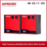 Pantalla LCD de alarma acústica y visual 1000-2000va Solar Power Inverter