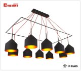 LED 상업적인 점화 현대 알루미늄 펀던트 가벼운 샹들리에