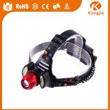 Super heller Bergbau-Scheinwerfer des PFEILER Kopf-Lampen-Licht-3W der Leistungs-LED wasserdicht