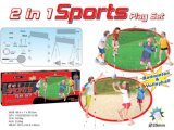Kinder Plastikbadminton u. Volleyball-gesetzte im Freienspielwaren