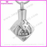 Urnes de collier pour le pendant de losange de cendres avec les cristaux Ijd9656