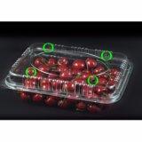 Contenitori di plastica a gettare di contenitore/insalata della frutta dell'animale domestico a forma di del cuore