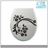 Assento de toalete sanitário impresso fácil tradicional dos mercadorias