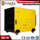 генератор двигателя дизеля генератора 5kVA 5kw 5000W супер молчком тепловозный