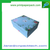 Rectángulo de empaquetado plegable de papel rígido de encargo del regalo de boda de la joyería de la caja de embalaje
