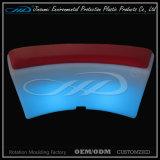 Silla colorida de la barra de los muebles recargables plásticos del LED