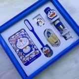 Selfie 지팡이 소형 LED 플래쉬 등을%s 가진 만화 Doraemon 힘 은행 8800mAh