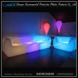 Meubles colorés rechargeables en plastique de jardin d'éclairage LED
