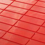 Mattonelle di mosaico di vetro di arte rossa lineare di Backsplash dei materiali da costruzione