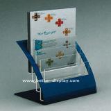 De duidelijke AcrylHouder van de Brochure met Embleem (btr-H6004)