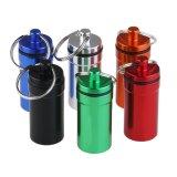 Farbiger Aluminiumpille-Behälter-Kasten 52X22mm
