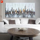 アーキテクチャ抽象的な壁の芸術のCitycapeの油絵