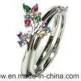 セットされる卸売価格の宝石類の女性の方法花の銀(S3381)