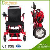 Sedia a rotelle piegante sicura esterna poco costosa della batteria di litio di potere di Alumunum