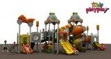 Da manufatura ao ar livre colorida de China do campo de jogos das crianças de Kidsplayplay corrediça plástica (KP-B306)
