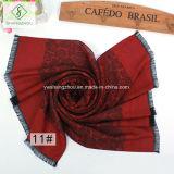 Senhora franjada Rosa Multicolor Seda Lenço da forma do xaile