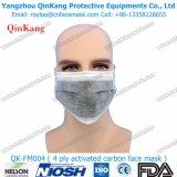 Maschera di protezione a gettare del carbonio delle 4 pieghe di protezione della maschera del ciclo attivo dell'orecchio Qk-FM0004