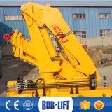 重量物運搬油圧10トンの指の関節ブームのトラックによって取付けられるクレーン