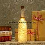 El conjunto del regalo del día de madre de Navidad enciende para arriba las botellas multi de la decoración de la boda de la luz de hadas de las funciones de la botella