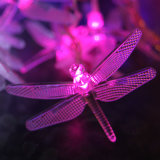 Im Freien Solar Dragonfly Garten Stake Lights für Holiday Decoration