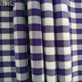 100%年の綿ポプリンはヤーンによって染められるファブリックによって編まれるファブリックRlsc50-2を点検する