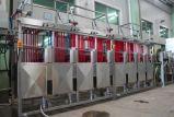 Máquina contínua de acabamento e acabamento de tecidos estreitos de 200mm