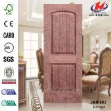 Panneau de porte de placage de Brich moulé par HDF
