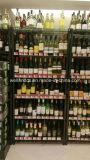 Supermercado ajustável 6 Tiers Chrome Metal Wine Display Rack