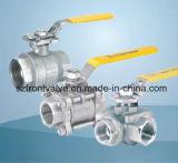 Нержавеющая сталь привинчила шариковый клапан 2PC