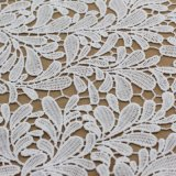 Recortes químicos de la tela del cordón del poliester blanco de Vintate para los accesorios de las ropas