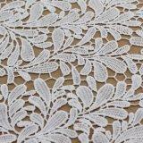 Vintate 백색 폴리에스테 의복 부속품을%s 화학 레이스 직물 트리밍